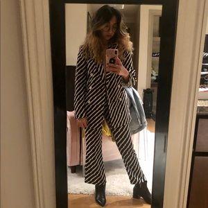 TOPSHOP: Black&White Zebra Blazer Set